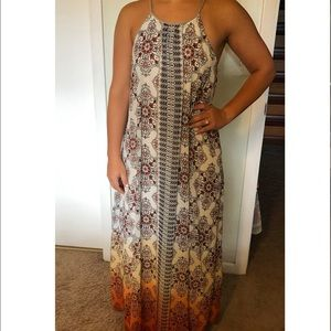 Altar'd State Dresses - Patterned maxi dress with rope straps